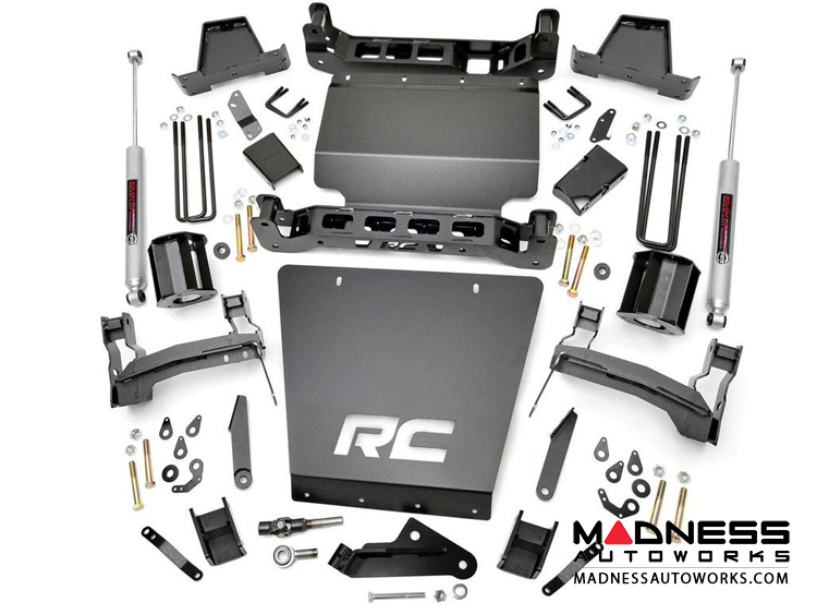 "Chevy Silverado 1500 4WD Suspension Lift Kit w/ Cast Steel Control Arms & Premium N3 Shocks - 7"" Lift"